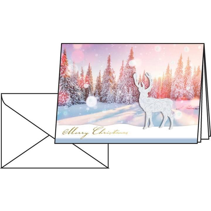 SIGEL Cartes en blanc (Noël / Avent, A6, Multicolore)