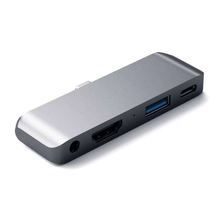 SATECHI Multiport Adattatore (HDMI, USB 3.0 Tipo-A, USB 3.0 Tipo-C, Jack 3.5 mm)