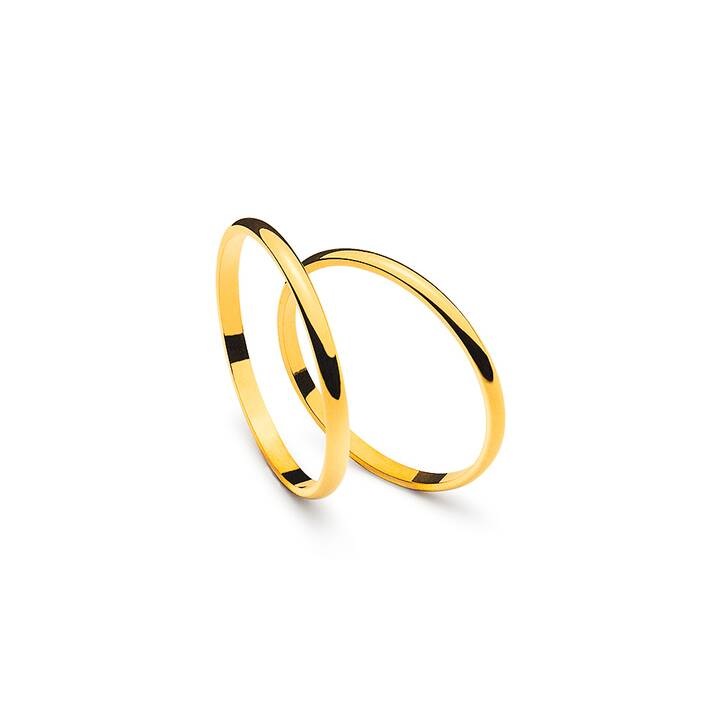 MUAU Matrimonio band (Oro giallo)