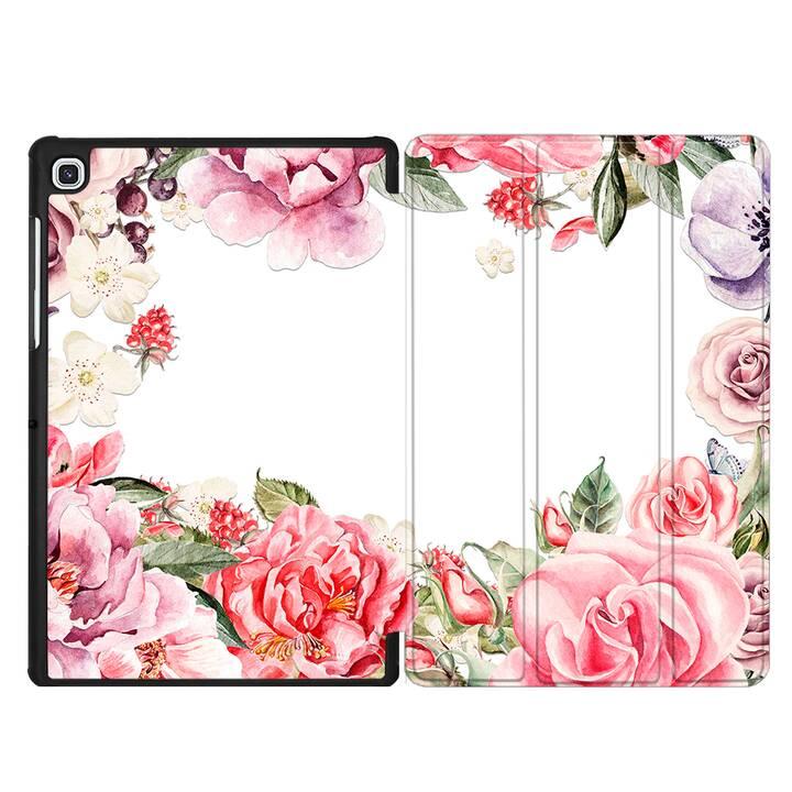 "EG MTT Housse pour Samsung Galaxy Tab S4 10.5"" - Fleurs"