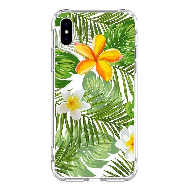"EG MTT custodia per iPhone X 5.8"" 2018 - piante tropicali"