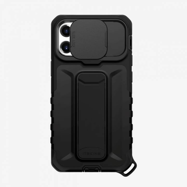 ITSKINS Backcover Slidelock Stand (iPhone 12 Mini, Antibatterico, Nero)