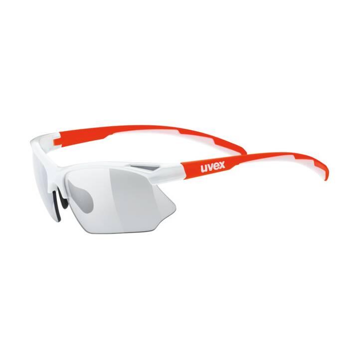 UVEX Sportstyle 802 Sportbrille (Orange, Weiss)