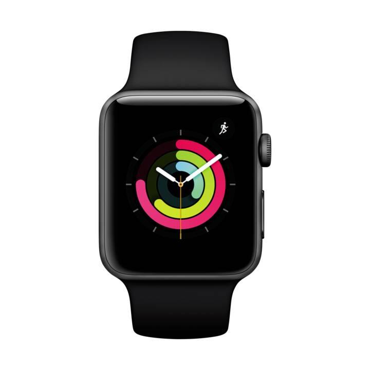 APPLE Watch Series 3 GPS (42.0 mm, Alluminio, Silicone)
