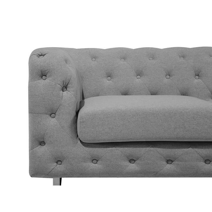 BELIANI Vissland Sofa (Polyester, Hellgrau, 215 cm x 87 cm)