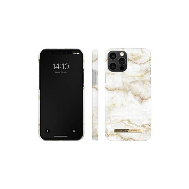 IDEAL OF SWEDEN Backcover Golden Pearl Marble (iPhone 12, iPhone 12 Pro, Bianco, Oro)