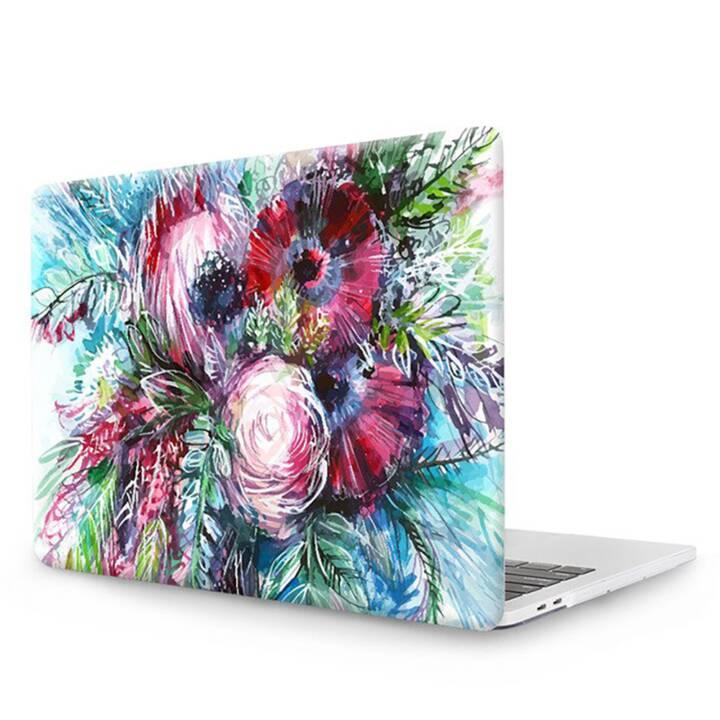 """EG MTT Copertina per computer portatile con tastiera, protezione antipolvere, penna a sfera per MacBook Pro 15"""" CD ROM - Pink Flowers"""