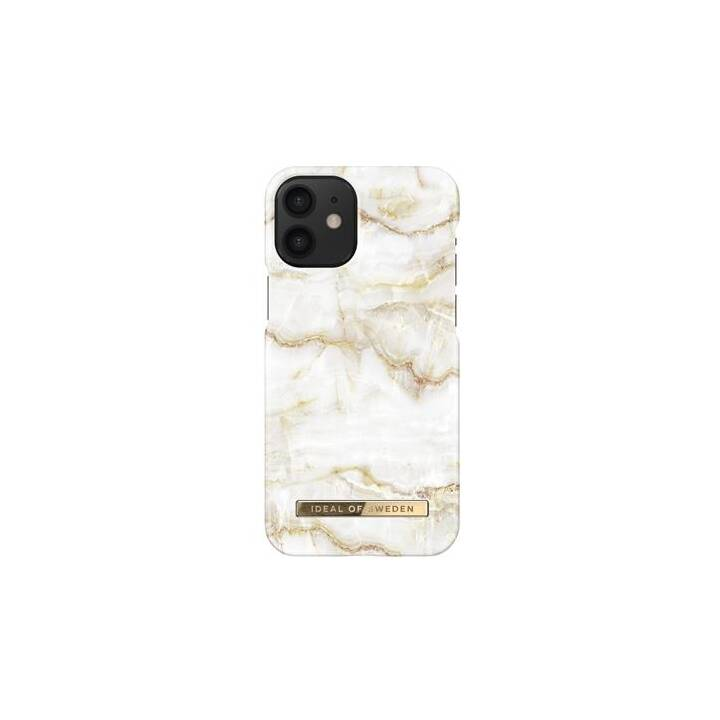 IDEAL OF SWEDEN Backcover Golden Pearl Marble (iPhone 12 Mini, Bianco, Oro)