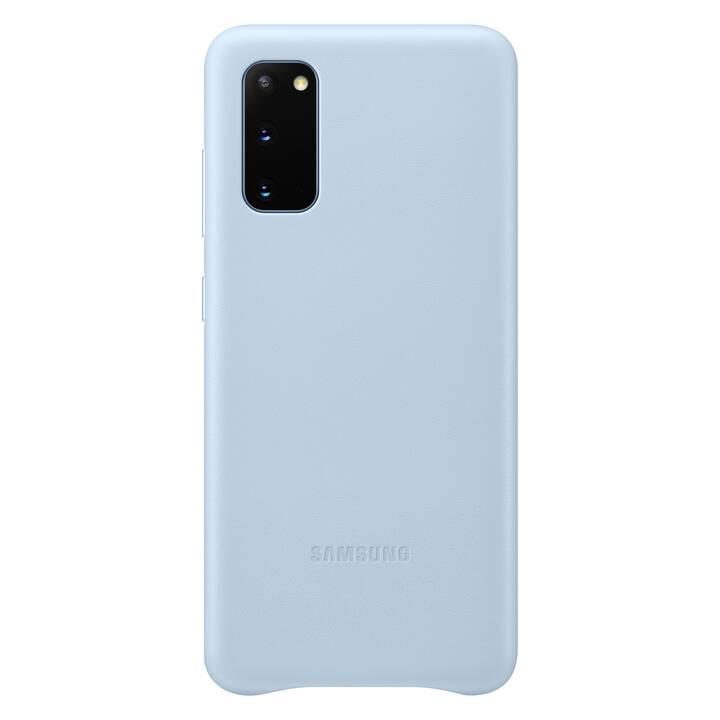 SAMSUNG Backcover Leather (Galaxy S20, Blu chiaro)