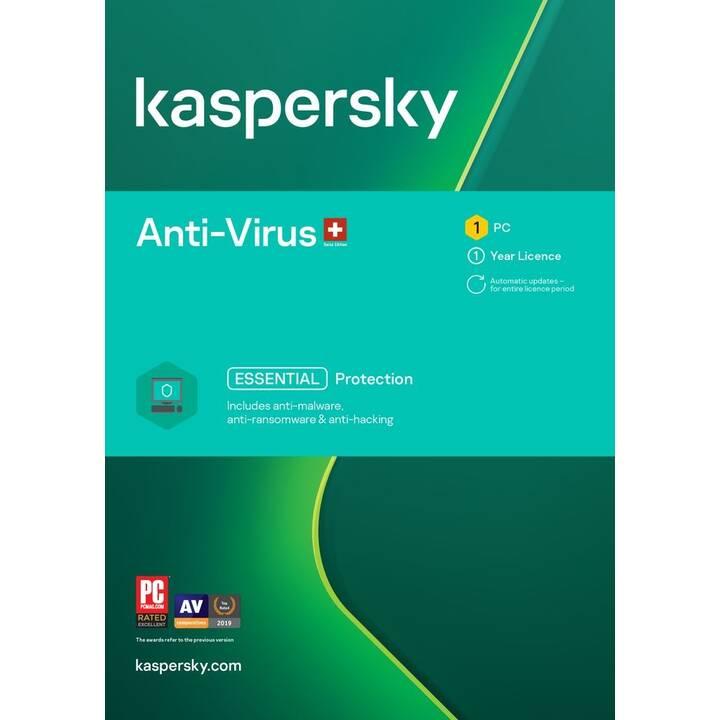 KASPERSKY LAB Anti-Virus (Abo, 1 Jahr, Französisch)