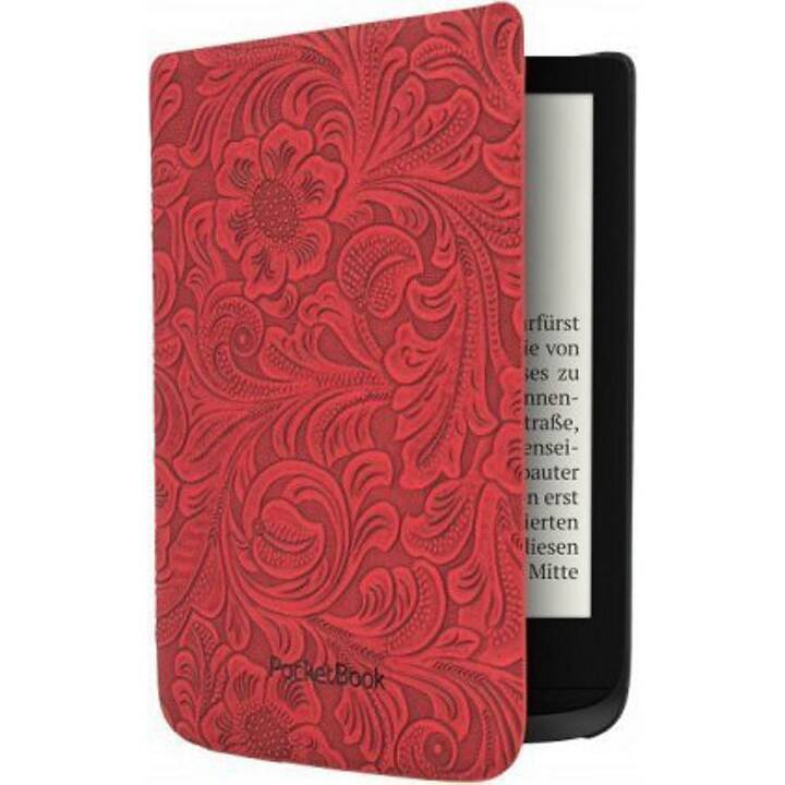 POCKETBOOK Comfort Red Flowers Cover (Rot)