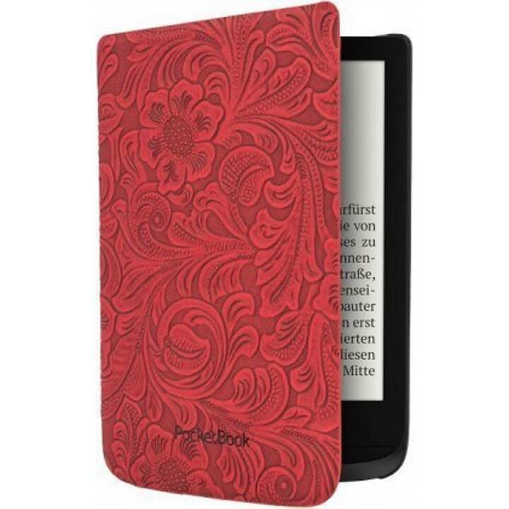 POCKETBOOK Comfort Red Flowers Custodia (Rosso)