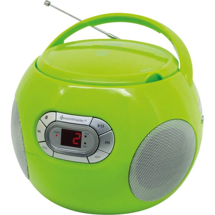SOUNDMASTER Portabler Radio-CD-Player Radios de chantier (Vert)