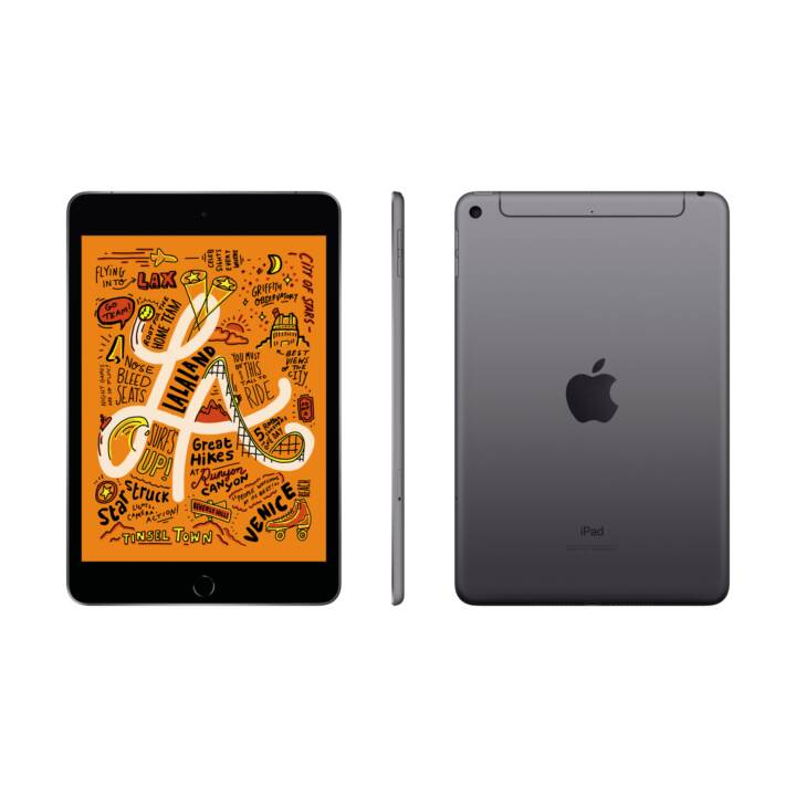 "APPLE iPad mini Wi-Fi + Cellular 2019 (7.9"", 64 GB, Space Grau)"
