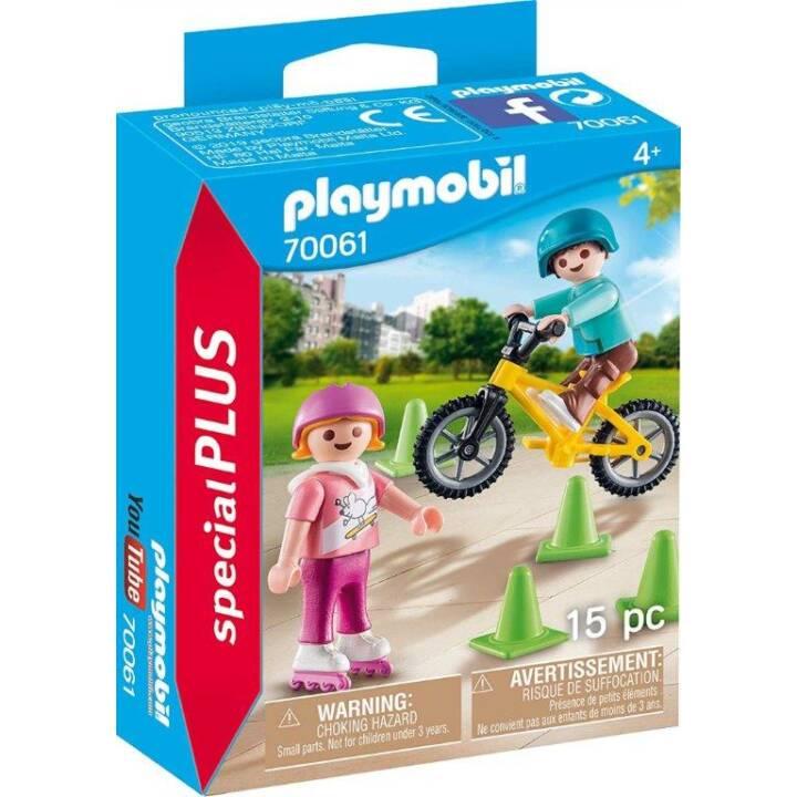 PLAYMOBIL Playmobil Special Plus Bambini con pattini e BMX (70061)