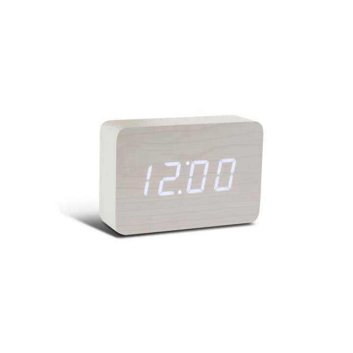 GINGKO Brick Click Clock blanc