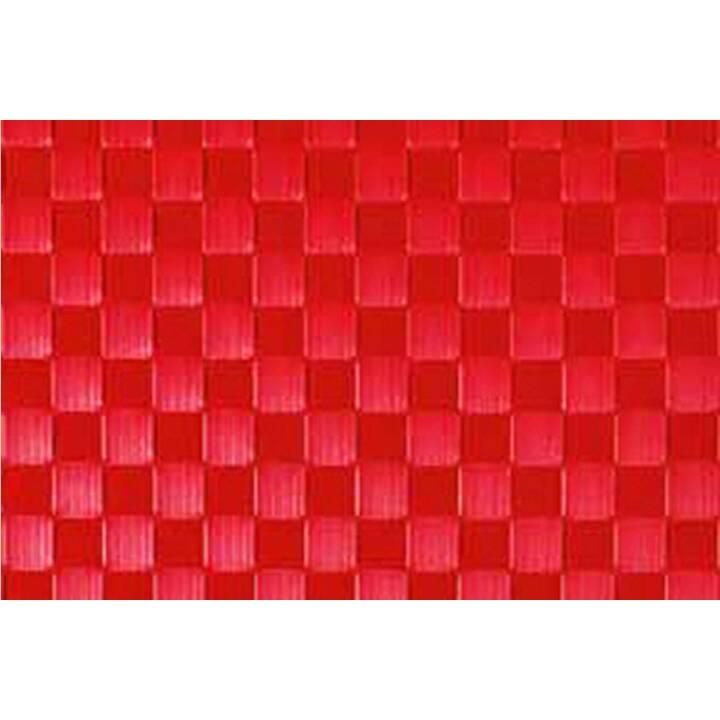 FRIEDOLA Tischset Trenzado (1 Stk, Polyvinylchlorid (PVC), Polypropylen, Rot)