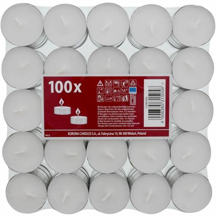 LIVIQUE Teelichter (Weiss, 100 Stück)