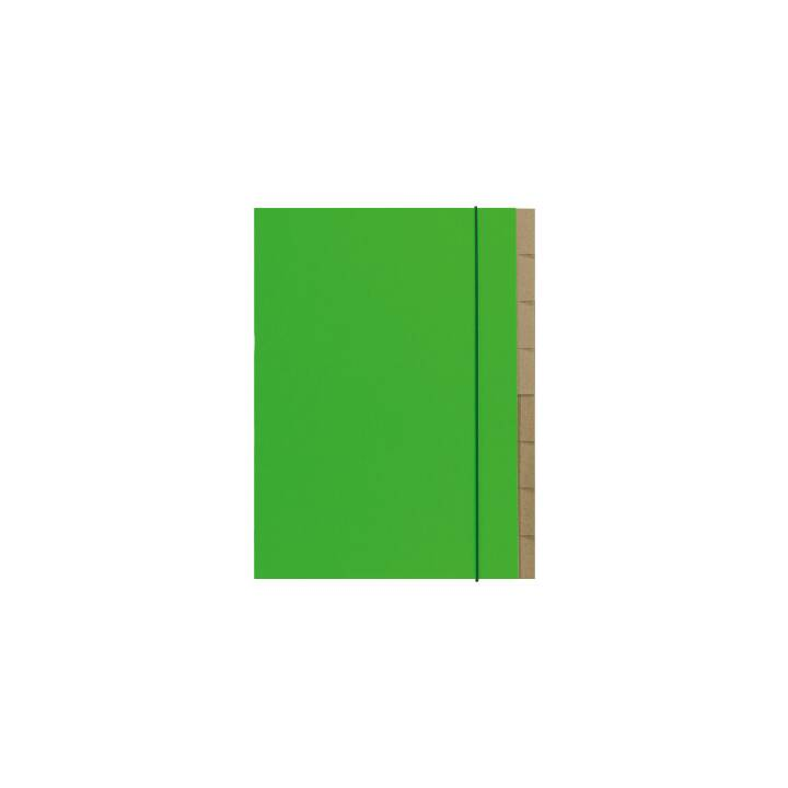 BIELLA chemise scandale A4 vert 7 pièces