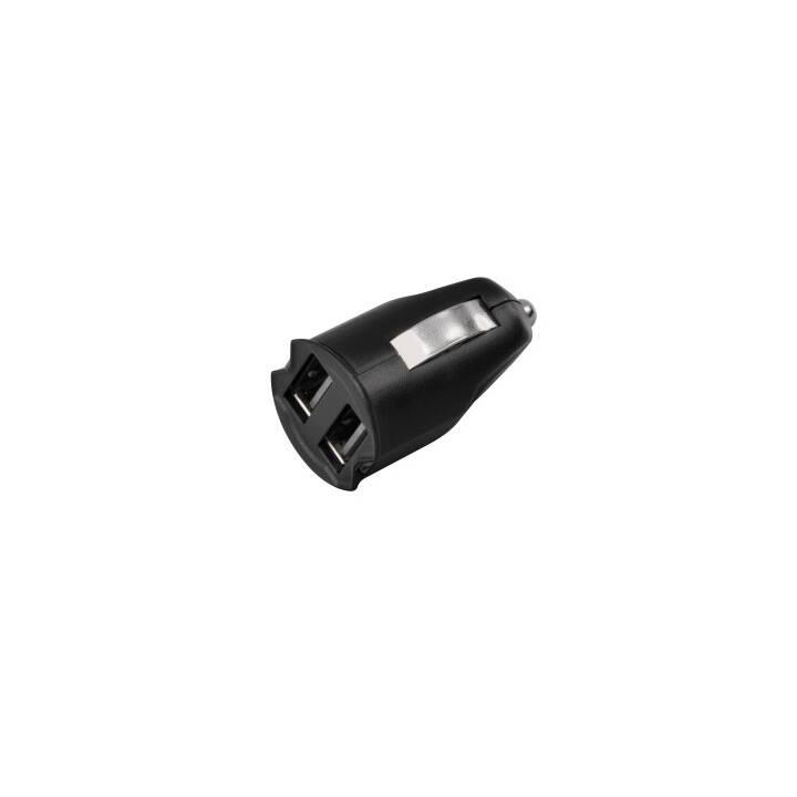 Chargeur de voiture USB HAMA, 2.1 A, noir
