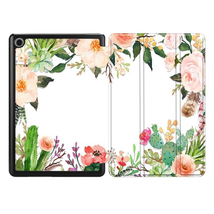 "EG MTT Coque pour HUAWEI MediaPad T5 10.1"" 2018 - fleur"
