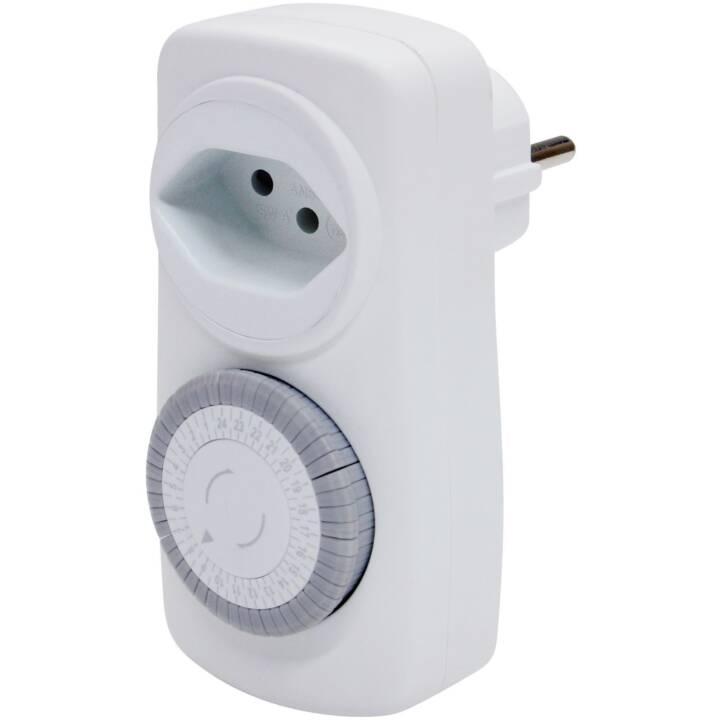 STEFFEN Timer 24 h (T13 / T12, Bianco)