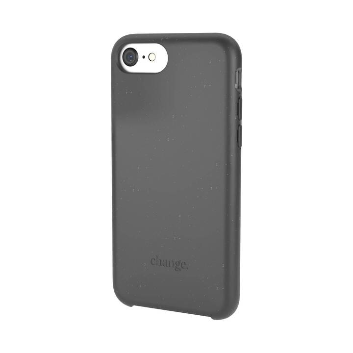WOODCESSORIES Backcover con cordoncino Change Case (iPhone SE 2020, iPhone 6s, iPhone 7, iPhone 8, iPhone 6, Nero)