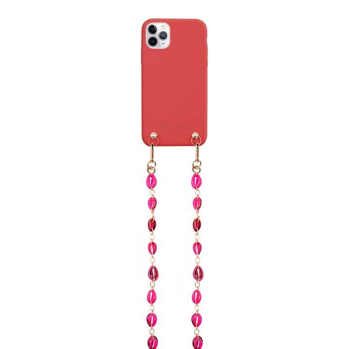 IPHORIA Backcover con cordoncino Necklase (iPhone 11 Pro Max, Rosso)