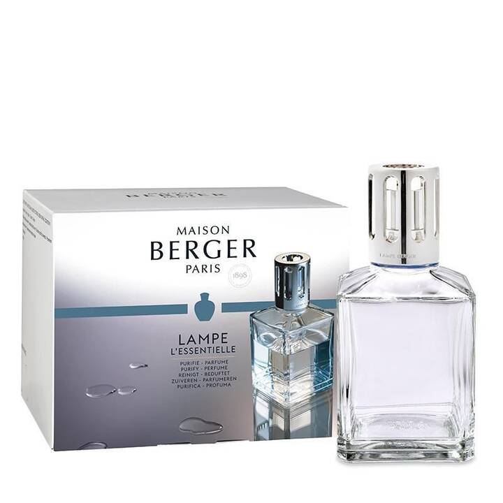 MAISON BERGER Lampe parfumée Essentielle carée (Fleuri, Frais, 500 ml)