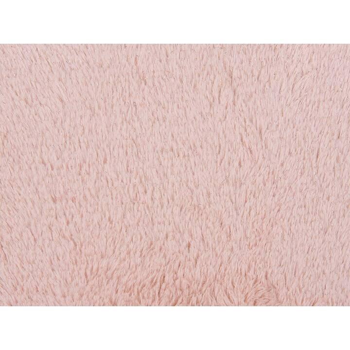 BELIANI Pargi Kissen (42 cm x 42 cm, Beige, Rosa)