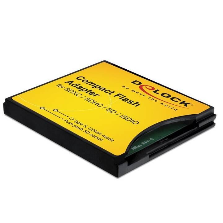 DELOCK CompactFlash Kartenadapter (Gelb, Schwarz)