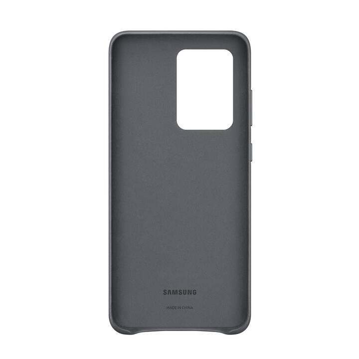 SAMSUNG Backcover Leather (Galaxy S20 Ultra, Grigio chiaro)
