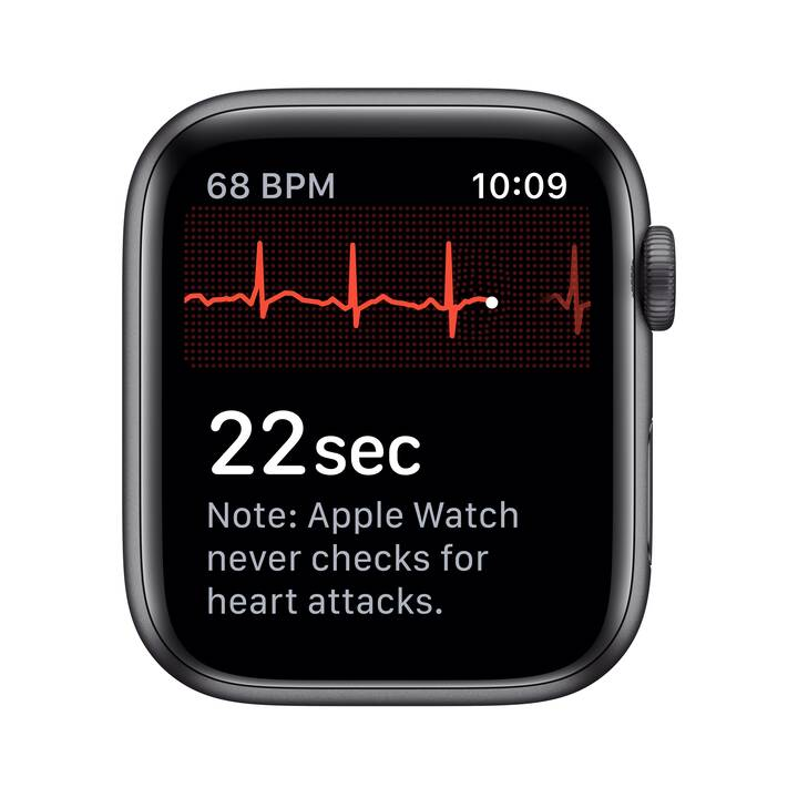 APPLE Watch Nike Series 5 GPS + LTE Space Grau/Anthrazit/Schwarz (44 mm, Aluminium, Silikon)