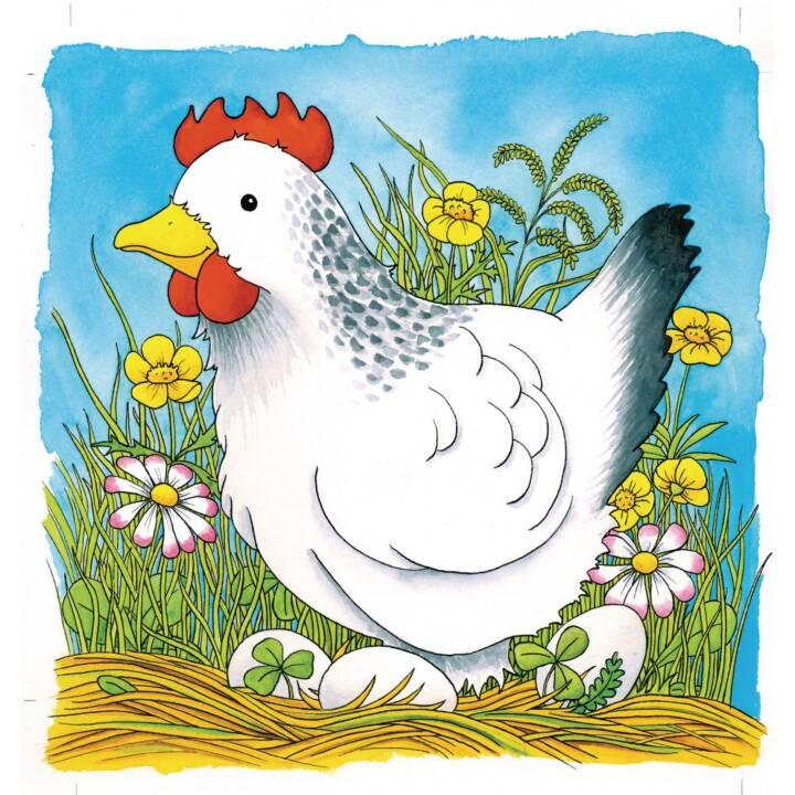 GOKI Das Huhn Schichtenpuzzle