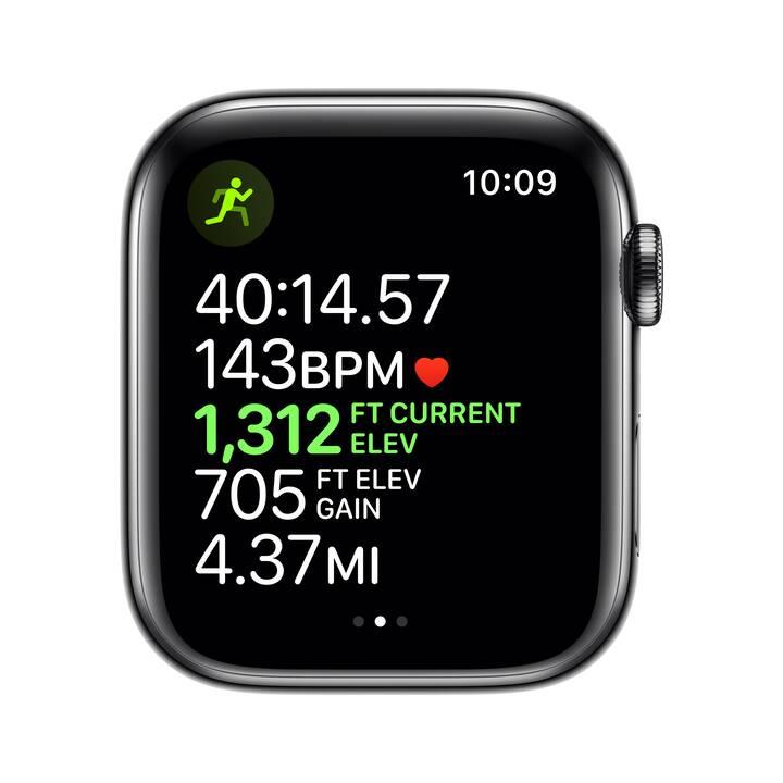 APPLE Watch Series 5 GPS + LTE Space Schwarz/Space Schwarz (44 mm, Edelstahl, Edelstahl)