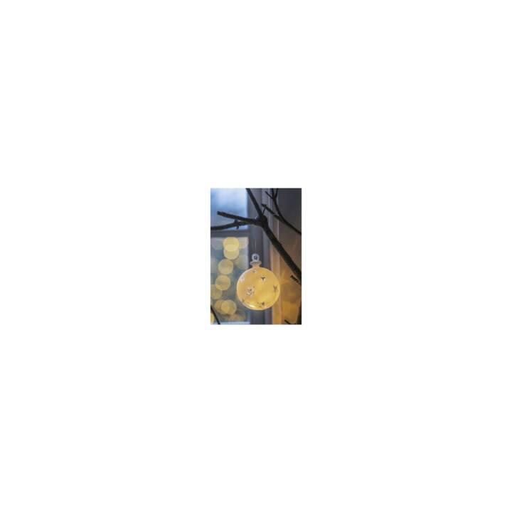 SIRIUS LED-Weihnachtskugel Vega Sternmotiv 7.5cm