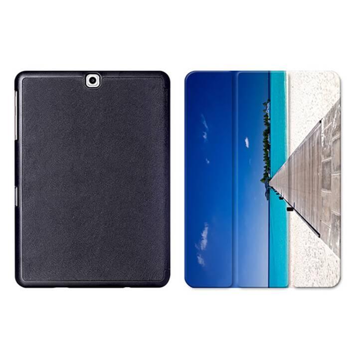 "EG MTT Sacoche à comprimés avec housse pliable Smart pour Samsung Galaxy Tab S2 9.7"" MTT - Beach"
