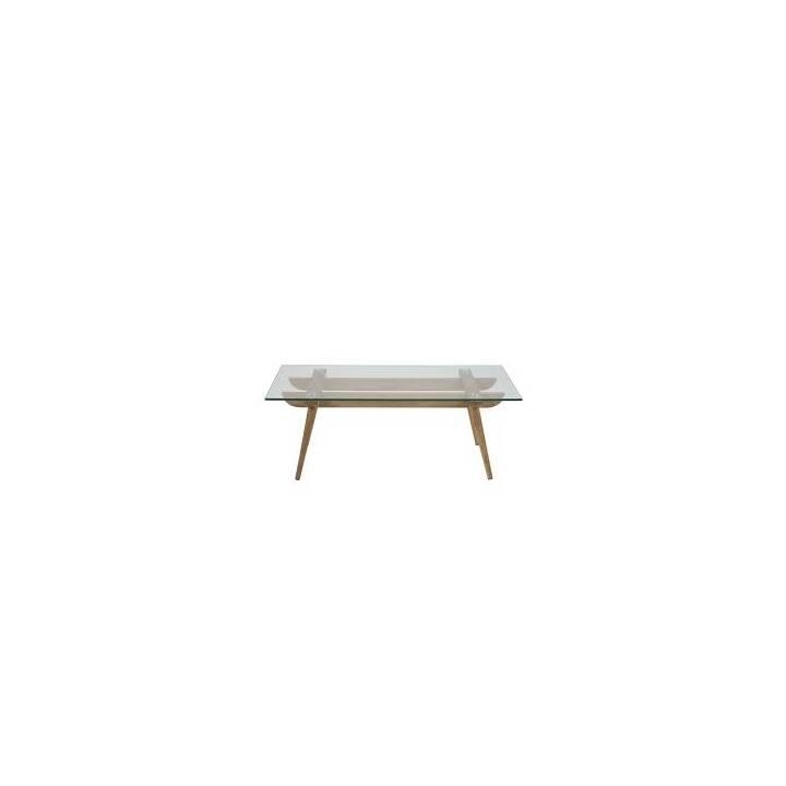 CREATIVE LIVING Table de salon Taxi (40 cm, Transparent, Beige)