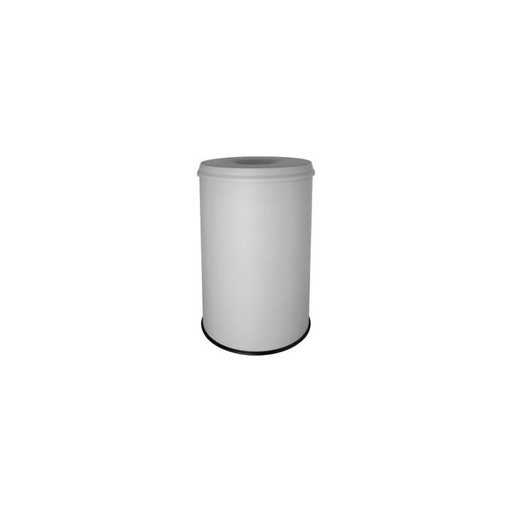 HELIT Corbeille à papier (30 l, Blanc)