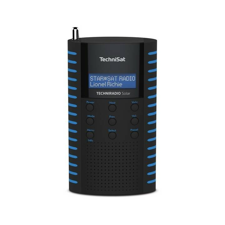 TECHNISAT Techniradio Solar Radio digitale (Blu, Nero)