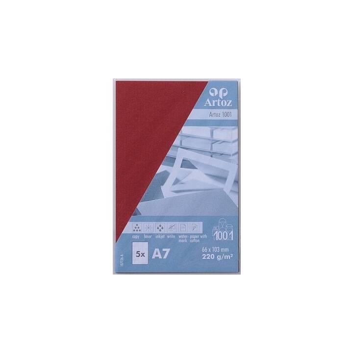 ARTOZ Visitenkarten 1001 A7 Weinrot - 5 Stück
