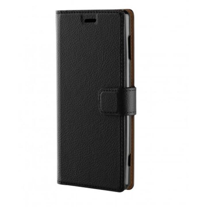XQISIT Flipcover Slim Wallet (Xperia XZ2, Brun, Noir)