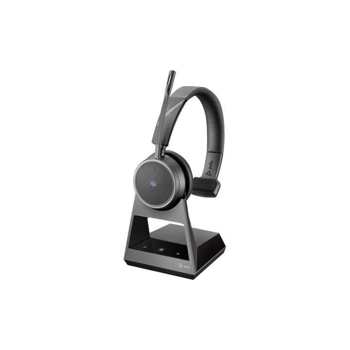 POLY Voyager 4210 (On-Ear, Bluetooth, Bluetooth 4.1, Schwarz)