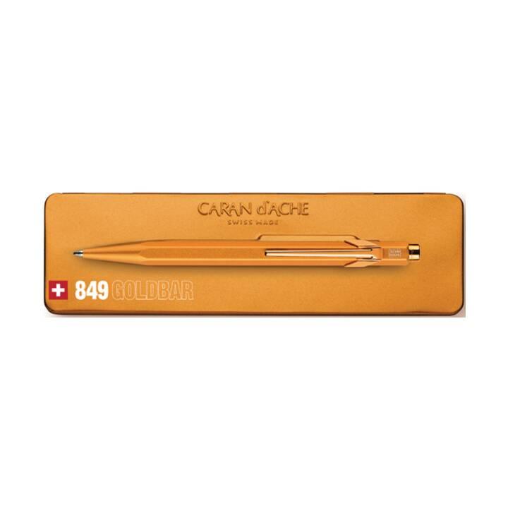 CARAN D'ACHE Kugelschreiber 849 GoldBar Gold mit Metalletui