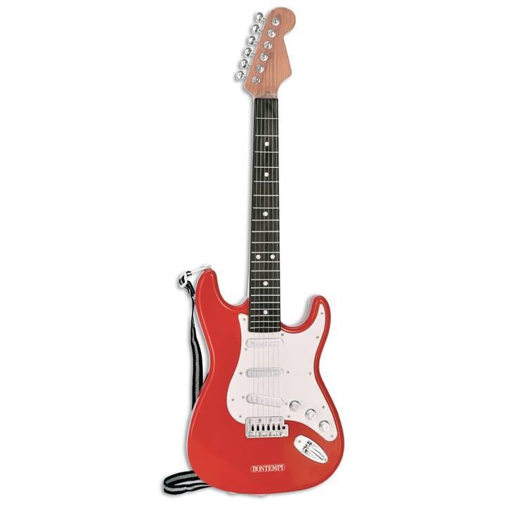 BONTEMPI Faire de la musique Electric Rock Guitar (Rouge, Noir, Blanc)