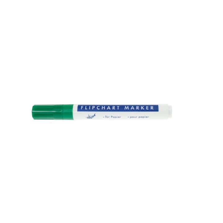 BÜROLINE Flipchart Marker 223018 (Grün, 1 Stück)