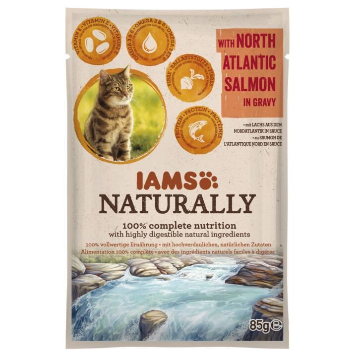 IAMS Naturally (Adult, 85 g, Lachs)