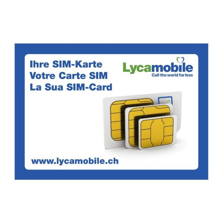 LYCAMOBILE Hello Swiss M (Unbegrenzt / 30 Tage)