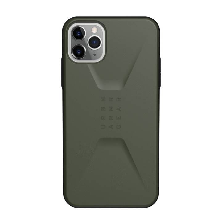 URBAN ARMOR GEAR Backcover Stealth (iPhone 11 Pro Max, Olivgrün)