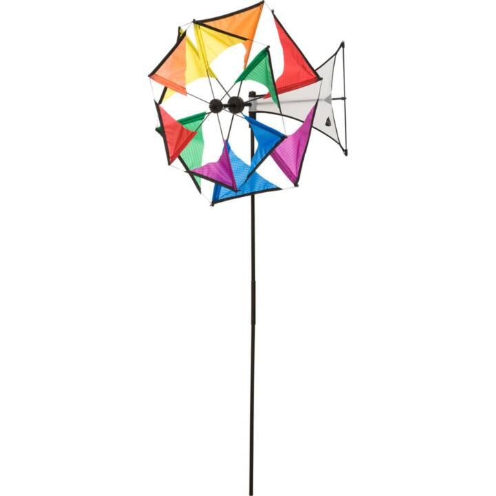 INVENTO-HQ Ruota a vento Mini Duett Rainbow (Multicolore, 42 cm x 102 cm)